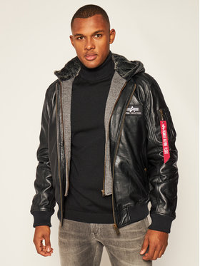 Alpha Industries Alpha Industries Giacca di pelle Ma-1 D-Tec 193129 Nero Regular Fit