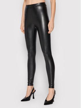 MICHAEL Michael Kors MICHAEL Michael Kors Панталони от имитация на кожа MU1304Y2S8 Черен Slim Fit