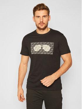 MICHAEL Michael Kors MICHAEL Michael Kors T-Shirt Printed CF05JW5FV4 Czarny Regular Fit
