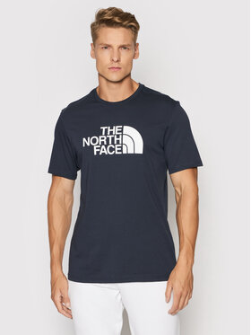 The North Face The North Face Тишърт S/S Easy NF0A2TX3M6S1 Тъмносин Regular Fit