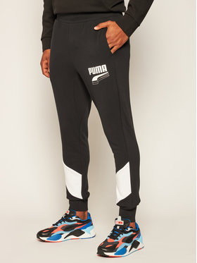 Puma Puma Pantaloni trening Rebel Block 583526 Negru Regular Fit