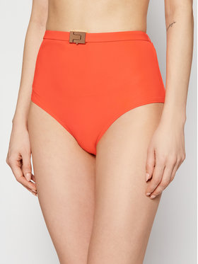 Tory Burch Tory Burch Dół od bikini T-Belt High-Waisted Bottom 61384 Pomarańczowy