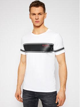 Guess Guess T-shirt Crew Neck Short Sleeve Tee M1RI56 K8HM0 Bianco Slim Fit