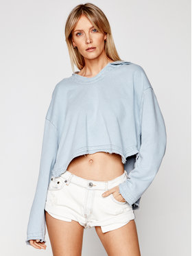 One Teaspoon One Teaspoon Sweatshirt Cropped 23936 Bleu Oversize