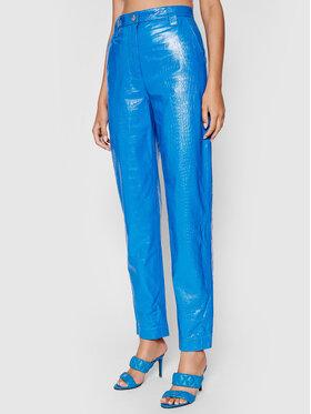 Remain Remain Spodnie skórzane Renate RM369 Niebieski Regular Fit