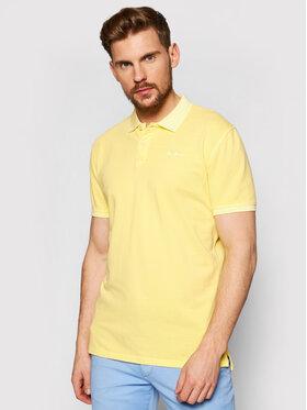 Pepe Jeans Pepe Jeans Тениска с яка и копчета Vincent Gd PM541225 Жълт Slim Fit