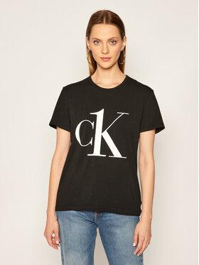 Calvin Klein Underwear Calvin Klein Underwear Marškinėliai Crew Neck 000QS6436E Juoda Regular Fit