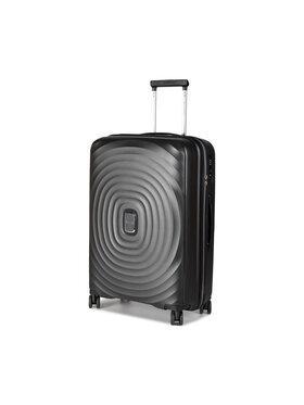 Puccini Puccini Közepes keményfedelű bőrönd Buenos Aires PP017B 1 Fekete