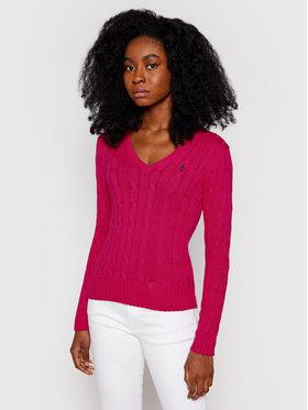 Polo Ralph Lauren Polo Ralph Lauren Sveter Lsl 211580008069 Ružová Regular Fit