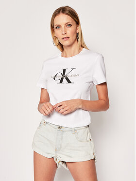 Calvin Klein Jeans Calvin Klein Jeans Póló J20J207878 Fehér Regular Fit