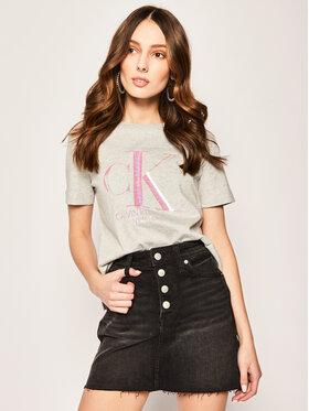 Calvin Klein Jeans Calvin Klein Jeans Marškinėliai Straight Iridescent Logo J20J213568 Regular Fit