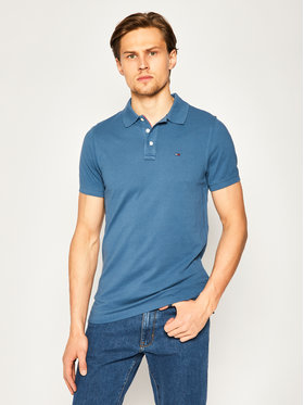 Tommy Jeans Tommy Jeans Тениска с яка и копчета Nos DM0DM08068 Тъмносин Slim Fit