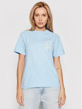 Tommy Jeans Tommy Jeans T-Shirt Tjw Repeat Script DW0DW10958 Modrá Regular Fit