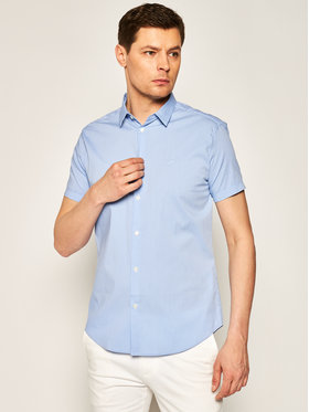 Emporio Armani Emporio Armani Koszula 8N1C10 1N06Z F708 Niebieski Slim Fit