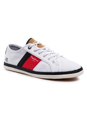 Pepe Jeans Pepe Jeans Espadrilles Maui Blucher PMS30710 Blanc