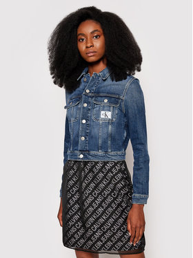 Calvin Klein Jeans Calvin Klein Jeans Kurtka jeansowa J20J215381 Granatowy Cropped Fit
