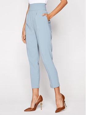 Pinko Pinko Pantaloni din material Natalia 20201 BLK01 1G14UD 7624 Albastru Regular Fit
