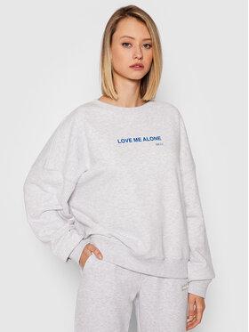 PLNY LALA PLNY LALA Sweatshirt Love Me Alone PL-BL-K1-00017 Gris Relaxed Fit