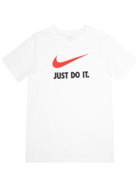 NIKE NIKE T-Shirt Nsw Swoosh AR5249 Biały Standard Fit