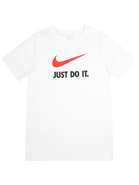 NIKE NIKE T-Shirt Nsw Swoosh AR5249 Λευκό Standard Fit