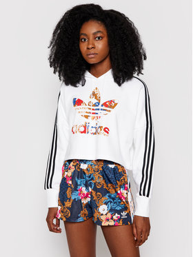 adidas adidas Bluză Boxy GN3356 Alb Relaxed Fit