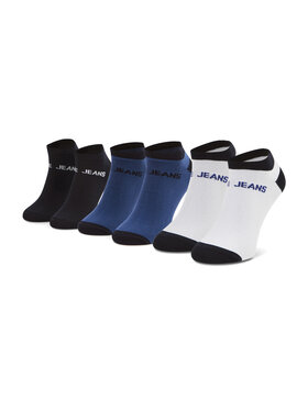 Pepe Jeans Pepe Jeans Set di 3 paia di calzini corti da uomo Aaron PMU10655 Nero