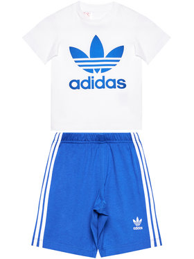 adidas adidas Komplet T-Shirt i szorty sportowe Trefoil GD2626 Biały Regular Fit