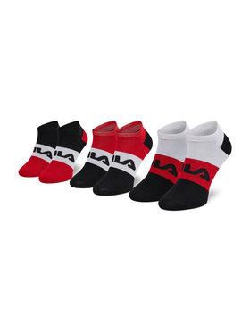 Fila Fila Súprava 3 párov kotníkových ponožiek unisex F6919 Čierna