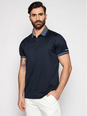 KARL LAGERFELD KARL LAGERFELD Тениска с яка и копчета 745002 511200 Тъмносин Regular Fit