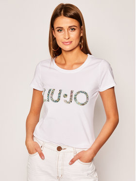 Liu Jo Beachwear Liu Jo Beachwear T-Shirt VA0172 J5003 Biały Regular Fit