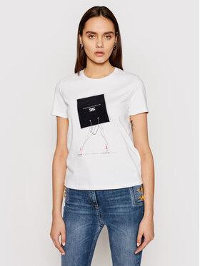 Elisabetta Franchi Elisabetta Franchi T-shirt MA-186-11E2-V140 Bijela Straight Fit