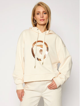 Trussardi Jeans Trussardi Jeans Mikina Sweatshirt Hooded 56F00102 Béžová Regular Fit