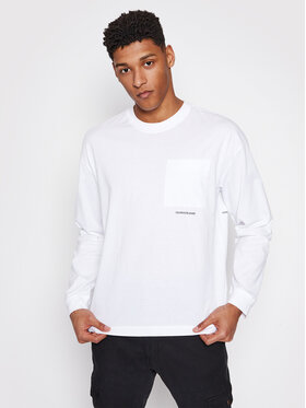 Calvin Klein Jeans Calvin Klein Jeans Hosszú ujjú J30J317292 Fehér Regular Fit