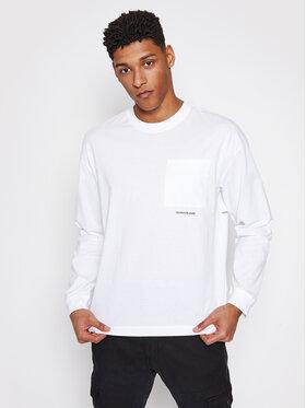 Calvin Klein Jeans Calvin Klein Jeans Marškinėliai ilgomis rankovėmis J30J317292 Balta Regular Fit