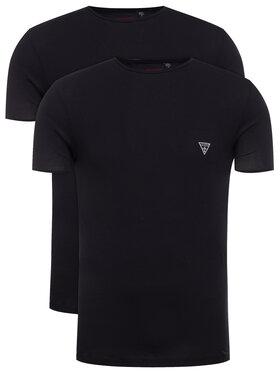 Guess Guess Komplet 2 t-shirtów Hero U97G02 JR003 Czarny Slim Fit