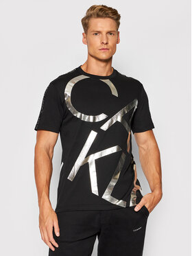 Calvin Klein Calvin Klein Póló Silver Big Logo K10K107037 Fekete Regular Fit
