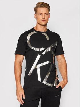 Calvin Klein Calvin Klein T-shirt Silver Big Logo K10K107037 Noir Regular Fit