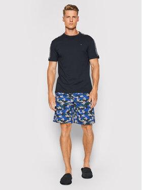 Tommy Hilfiger Tommy Hilfiger Pijama Cn Ss Short Woven Set UM0UM02171 Bleumarin
