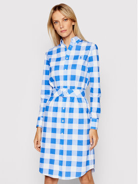 Lauren Ralph Lauren Lauren Ralph Lauren Rochie tip cămașă Lsl 211838116002 Albastru Regular Fit