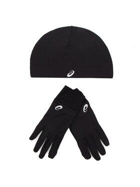 Asics Asics Комплект шапка и ръкавици Running Pack 3013A035 Черен