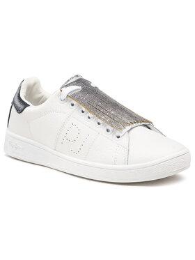 Pepe Jeans Pepe Jeans Sneakers Brompton Basic PLS30581 Alb