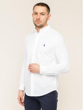 Polo Ralph Lauren Polo Ralph Lauren Риза 710654408003 Бял Regular Fit