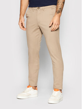 Selected Homme Selected Homme Chinosy Miles 16074054 Beżowy Slim Fit