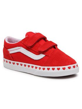 Vans Vans Teniszcipő Old Skool V VN0A38JN30V1 Piros
