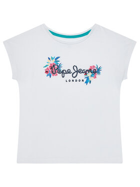 Pepe Jeans Pepe Jeans Marškinėliai Cris PG502716 Balta Regular Fit