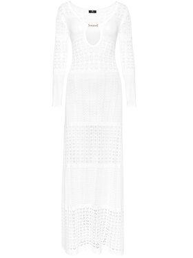 Elisabetta Franchi Elisabetta Franchi Лятна рокля AM-11M-11E2-V480 Бял Slim Fit
