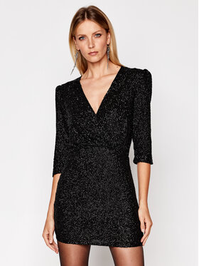 IRO IRO Sukienka koktajlowa Justify AN076 Czarny Slim Fit