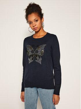 Desigual Desigual Maglione Butterfly 20WWJF91 Blu scuro Regular Fit