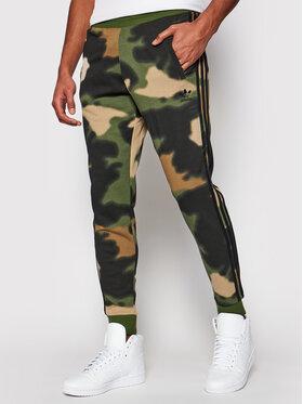 adidas adidas Spodnie dresowe Camo GN1894 Zielony Fitted Fit