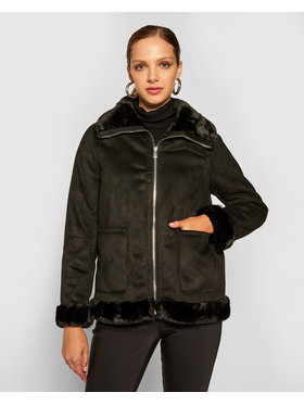 Lauren Ralph Lauren Lauren Ralph Lauren Átmeneti kabát Fix Sheared Lamb Coat 297821781001 Fekete Regular Fit